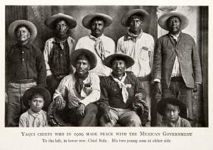 1912 Print Yaqui Chiefs Luis Buli Sons 1909 Peace Mexico Mazocoba Battle Sonora ebay