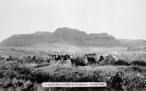 Apache Camp in Cañon del los Embudos, Arizona, 1886, Denver Lib
