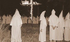 Klansmen-burning-a-Cross Texas 1920s