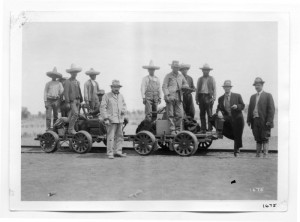 Mexican RR wrkers circa 1910 in Mexico