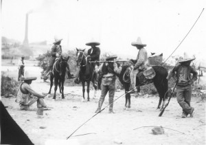 Mexican Revolution soldiers Resting
