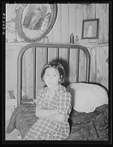 Mexican girl circa 1938